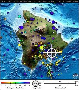 Image Courtesy:  NOAA.  A 5.1 Earthquake rattled the Kilauea area of the Big Island.