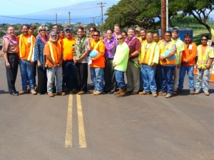 With the completion of this project, an alternate route down to the highway will be provided through the Keawe Street Extension to alleviate congestion at the Lahainaluna Road and Honoapiilani Highway signalized intersection.  Photo by Wendy Osher.