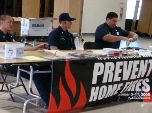 Firefighters with the Maui Fire Prevention Bureau assist contractors, engineers and residents with fire code questions.  Photo by Wendy OSHER.