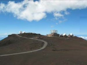 Current View of HO from Pu'u Ula'ula.  Photo Courtesy:  National Science Foundation & Hawaii Department of Health