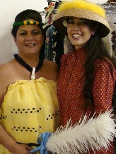 Ivy Sanchez & Wendy Osher were among the models at the Princess Ka'iulani Fashion Show.