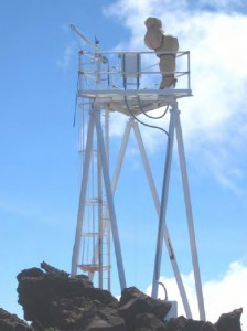 ATST Test Tower at Haleakalā High Altitude Observatory Site.  Photo Courtesy:  National Science Foundation & Hawaii Department of Health