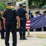 A flag folding ceremony was held in honor of Chief Phillips on Friday. Photo by Wendy OSHER.