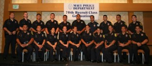(Photo Courtesy, Maui Police Department, *Note- Missing from the photo is Officer Brian Kibby.)