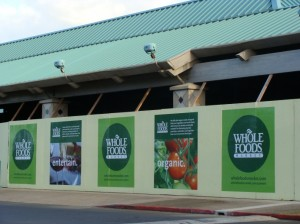 The Whole Foods Market on Maui is under construction and is slated to open at The Maui Mall in the spring of 2010. Photo by Wendy Osher.