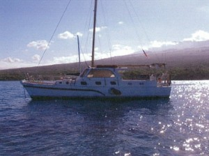 Kai Kanani anchored in Makena.  Image from DLNR Land Board Files.