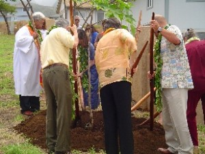File photo: Kane participates in ground breaking ceremony at Maui's Villages of Lealii.  Photo by Wendy Osher.