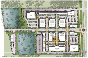 Image depicting the ground level portion of the Downtown Kihei project, courtesy Stoutenborough, Inc.