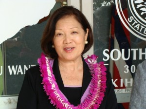 Congresswoman Mazie Hirono of Hawaii voted today in support of extending funding for the popular Cash for Clunkers program.  File photo by Wendy Osher.