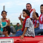 Fair Managing Director Sherri Grimes is pictured with her family in the 2008 County Fair Parade.  Photo by Wendy Osher.