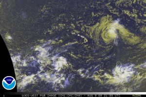 (Click to enlarge image. Satellite imagery courtesy NOAA & The National Hurricane Center)