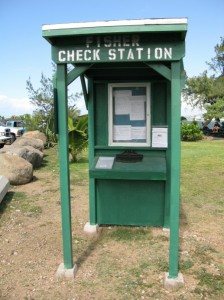 Kahului Harbor Fisher Check in Station. Photo Courtesy State Department of Land and Natural Resources.