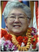 Maui Mayor Charmaine Tavares joins Hawaii's other county mayors in promoting Hawaii Tourism in Los Angeles. File Photo by Wendy Osher.