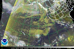 (Click to enlarge image.  RGB satellite imagery courtesy the National Hurricane Center and NOAA)
