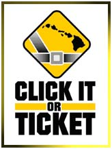 Hawaii's Click it or Ticket campaign ran from May 18-31, 2009.