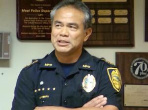 Maui Police Chief Gary Yabuta.  File Photo by Wendy Osher.