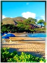 Beach umbrellas and chairs in Mākena. File photo.