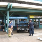 Pickup Plows Through Store Front Of Pukalani Bank