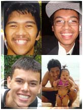 "Photos: Na'ilima Kana (top left); Kalamaku Kana (top right); Tyson Latham (bottom left); Na'ilima Kana is pictured with his daughter, Kahali'aoku'uhaola Emma Kana-Yarborough (bottom right). Na'ilima's parents, Leinani and Jacob Kana described their son as a ""very good father."" Na'ilima was the driver of a sedan that was involved in a fatal collision in Waihee last week. Photo courtesy the Kana & Latham 'ohana."