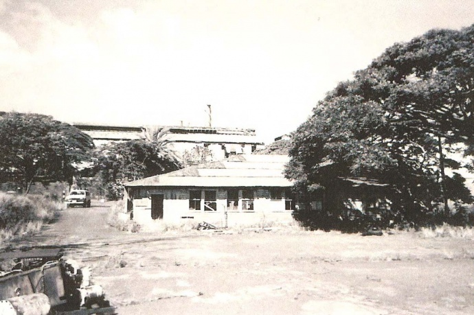 Archival photograph of Paia Dispensary Facility provided by D. Heafey, HC&S & published in the State of Hawaii's Environmental Notice in report filed by Munekiyo & Hiraga, Inc.