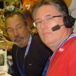 File Photo by Pacific Radio Group.  Barry Helle (r) and Fred Guzman (l) will be broadcasting live play-by-play action from the 2010 EA SPORTS Maui Invitational Basketball Tournament.