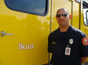 Engine 13, serving Kula was named Ikua, after the famous Maui paniolo or cowboy from Ulupalakua Ranch.   Purdy's great-grandson, Parish Purdy is a Firefighter I with the Makawao Station.  Photo by Wendy Osher.