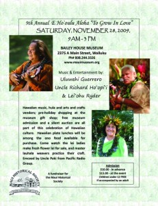Click image to enlarge.  Flyer courtesy Maui Hisotrical Society.