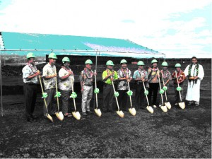 A ground breaking ceremony was held today for a new cargo faciity in Hilo.  Photo Courtesy: Hawaii State Department of Transportation.