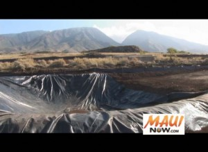 The Lahaina Flood Control project is designed to divert floodwater from the heavily populated Lahainaluna, Puamana and the surrounding area.  Photo by Wendy Osher.