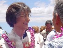 File Photo of Governor Linda Lingle on Maui, by Wendy Osher.