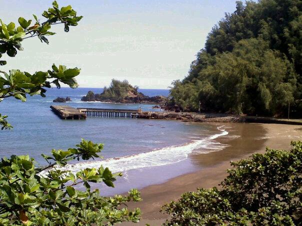 File photo of Hāna Bay 2/27/10 courtesy: Bobbi Kalama.