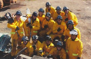 Members of the 27th MFD Recruit Class: Back Row: Brian Takeo, Jack Smith, Daryl Boeche; Middle Row: Jay Duquette, Michael Grimes, John Tualemoso, Nikolai Reuss, Ryan Short, Darrell Aea; Front Row: John Guard, Crescent Gumanas, Kaniauokahekili Kaaa, Charles Eckart and Julio Bayez.