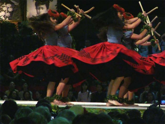 Hula Dancers From Maui Halau