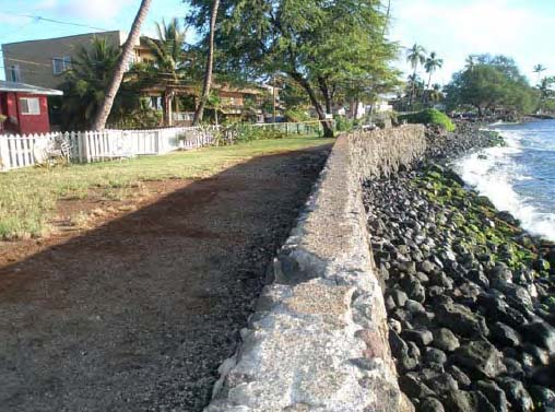 Proposed Front Street Park property looking south. Photo Courtesy: State of Hawaii, OEQC)
