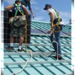 File photo courtesy UHMC.  The UH Maui College project involved the installation of photovoltaic panels atop a campus building in Kahului in June, saving the school in energy costs and providing a clean energy alternative.