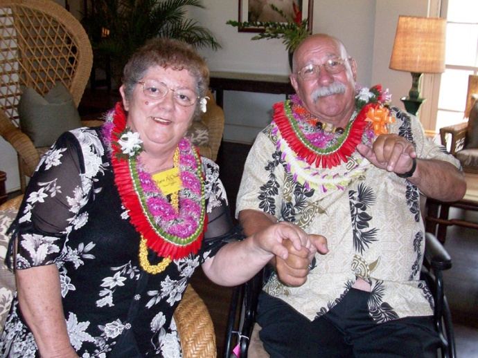 Marie Osaka (L) and Marvin Paularena were honored as Maui County's 2010 Outstanding Older Americans.  File photo courtesy County of Maui.
