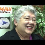 Click image to view VIDEO of our interview with mayoral incumbent candidate Charmaine Tavares.
