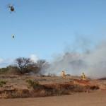 A brush fire burned four acres near the Mokulele Highway, near the Maui Raceway Park.  Courtesy photo by Kevin J Olson. (4 p.m. August 20, 2010)