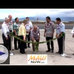 Click on Image to view VIDEO of the dedication ceremony for the Kahului Airport Apron Pavement Project.