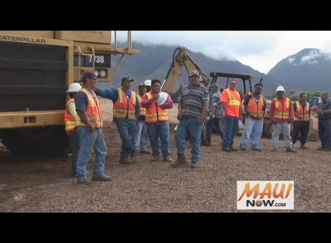 Lahaina Bypass Phase 2 groundbreaking. File photo, October 2010, by Wendy Osher.