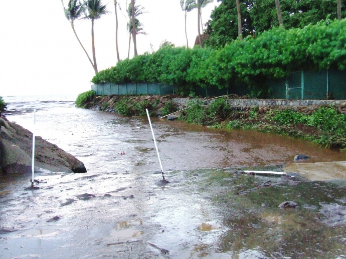 December 26, 2010 flooding on South Kihei Road. Photo courtesy County of Maui.