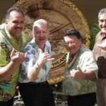 Kauai Mayor Bernard Carvalho, Jr., Honolulu Mayor Peter Carlisle, Maui Mayor-Elect Alan Arakawa, and Big Island Mayor Billy Kenoi. Courtesy file photo.