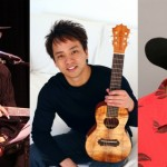 Dennis Kamakahi, Daniel Ho, and Ledward Kaapana are among the featured artists at the monthly Slack Key Guitar Masters series at the MACC.  Photos courtesy Slack Key Masters.