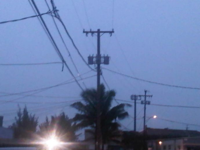 MECO cautions Maui County residents to set up fireworks clear of utility poles and iines. File photo by Wendy Osher.