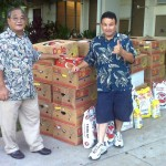 Volunteers Guy Arisumi (left) & Ramon Cardona-Elias (right) helped to collect donations.  Courtesy Photo.