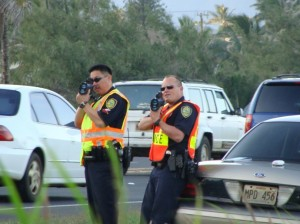 Speed Enforcement Team officers. Photo by Wendy Osher.