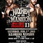 Mayhem at the Mansion II Results