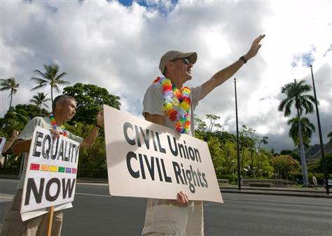 Homosexual civil unions