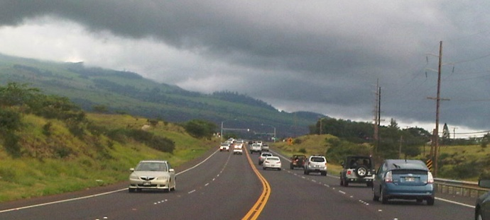 Piilani Highway file photo by Wendy Osher.