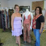 Rose Potter and Stacy Muniz show off some of the great finds at Women Helping Women's new ReVive Boutique
